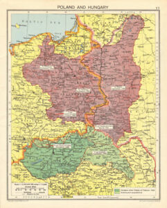 Second World War Division Of Poland Hungary Expansion Curzon Line