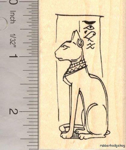 Egyptian Feline Goddess Rubber Stamp H13702 WM Bastet