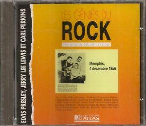 MUSIQUE-CD-LES-GENIES-DU-ROCK-EDITIONS-ATLAS-ELVIS-PRESLEY-JERRY-LEWIS-PERKINS