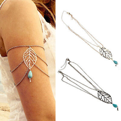 New Leaf Turquoise Arm Harness Slave Armband Chain Cuff Armlet Bracelet Hoc