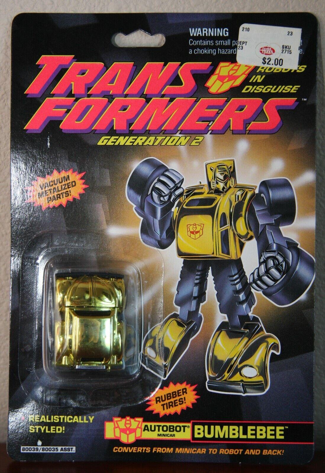 Transformers GENERATION 2 G2 MATT mettuttiica Bumblebee Autobot MOC NUOVO SIGILLATO