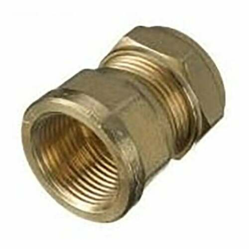 1 x New Compression Straight Female Iron 8mm x 3//8 Brass plumbing fittings