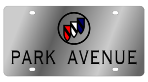 Buick-Park-Ave-Mirror-Polished-3D-Logo-Finish-Stainless-Steel-License-Plate