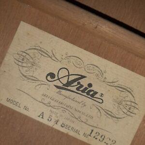 "Guitare classique 1970-80 ""Aria"" A 548 série limitée, occasion"
