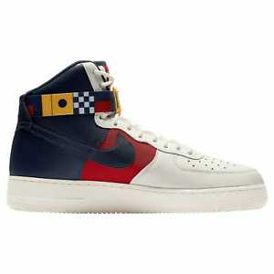 reputable site 4cac1 272e5 Details about Nike Air Force 1 High LV8 Mens Sail/Midnight Navy/Gym  Red/Midnight Navy R5395100