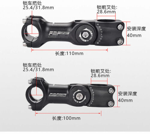 FMF Adjustable Rise up Handlebar Stem 31.8//25.4*110mm MTB Road Bike Bicycle