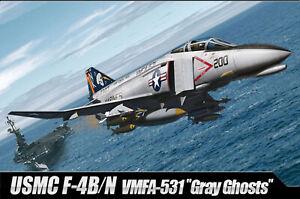 ACADEMY-USMC-F-4B-N-VMFA-531-Gray-Ghosts-12315-1-48-Scale-Plastic-model-set