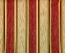 "COVINGTON DANBURY STRIPE ANTIQUE RED HEAVY FURNITURE FABRIC BY THE YARD 55""W"