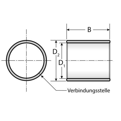 ohne Bund 10 Gleitlager 3520 35 x 39 x 20 mm wartungsfrei