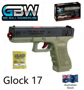 Details about Glock 17 Manual Hopper Fed Gel Ball Blaster Pistol water  crystal toy