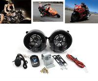 Bluetooth Motorcycle Handlebar Mount Audio Radio Mp3 Stereo Speaker W/ Alarm Ce