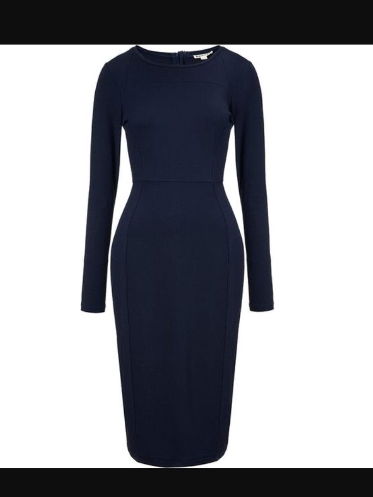 Whistles Taglia 6 Lucy Midi vestito blu Nuova Nuova Nuova con etichetta edf505