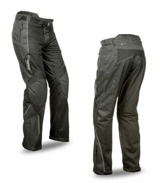 FLY STREET COOLPRO II MOTORCYCLE RIDING MESH PANT BLACK SIZE 38 478-20438