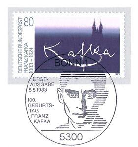 Rfa 1983: Franz Kafka Nº 1178 Avec Propre Bonner Ersttags Cachet! 1 A 1806-l! 1a 1806fr-fr Afficher Le Titre D'origine AgréAble à GoûTer