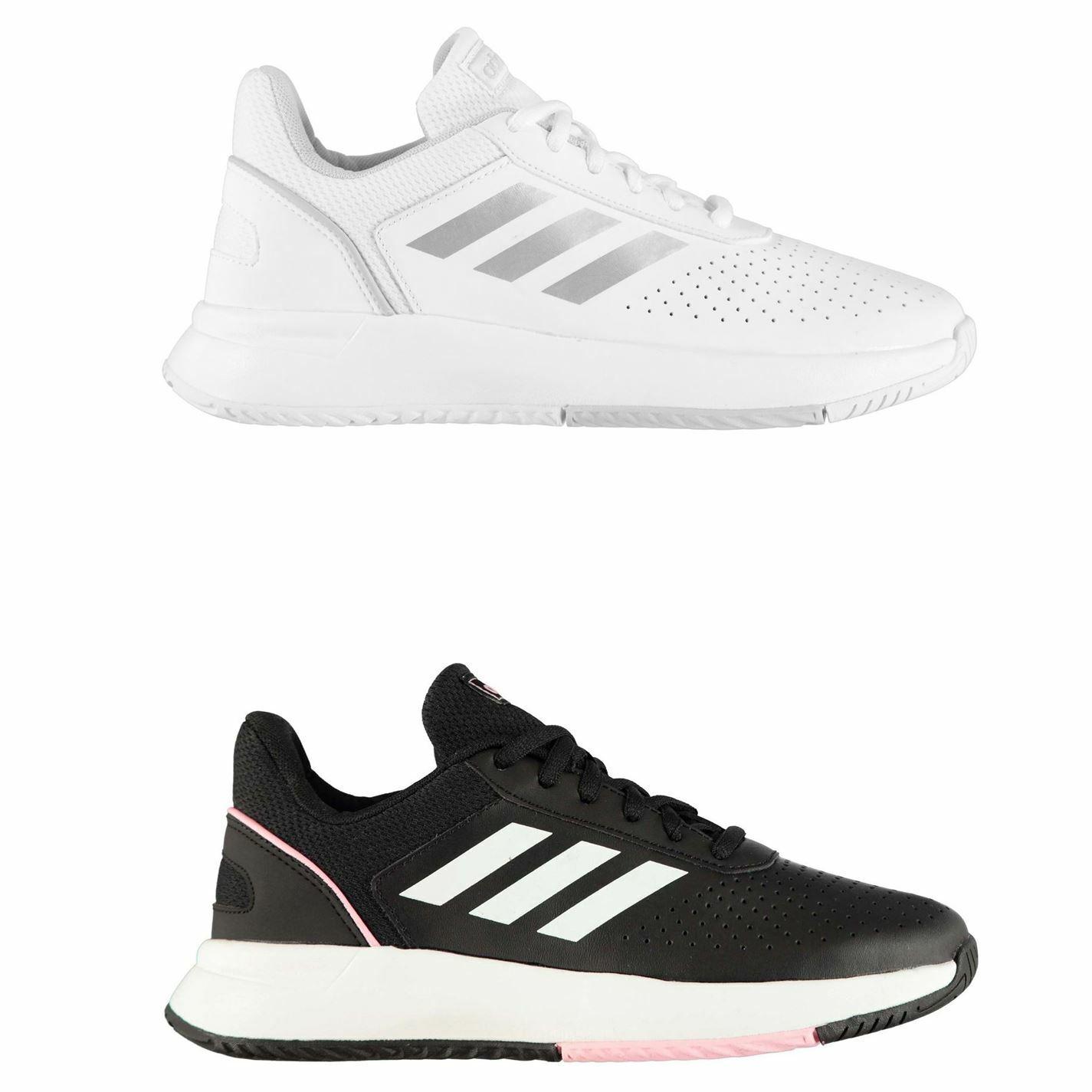 Adidas Courtsmash Tennis schoenen Womannens Trainers Ladies Sports Footwear