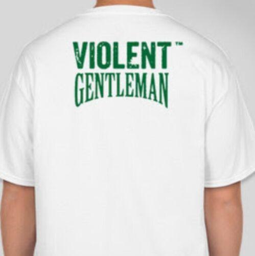"Violent Gentleman MENS /""Belfast Boxing/"" T-Shirt WHITE"