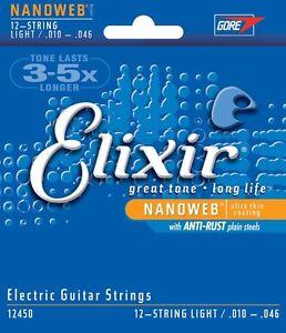 Elixir-12450-Nickel-Nanoweb-Coated-12-String-anti-rust-Electric-strings-10-46