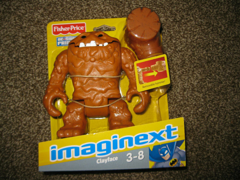 Fisher Fisher Fisher Price Imaginext DC Super Friends ClayFace Villain Batman World Figure toy c55dd2