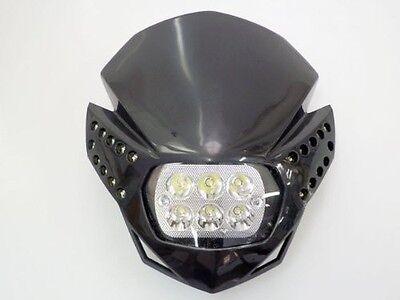 18W Cree Black Dirt Bike Headlight Fairing For KTM EXC XC MXC 250 450 525 530