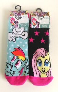 2c86515f5ae Image is loading My-Little-Pony-Slipper-Socks-x2-Set-3