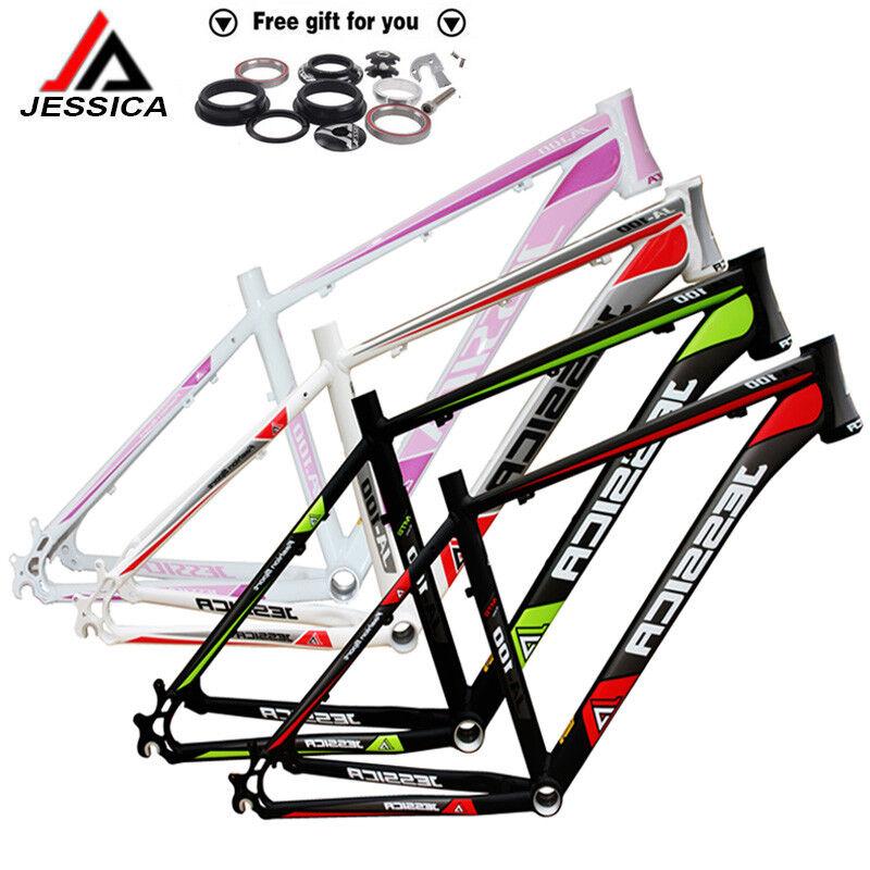 26er Aluminum Alloy MTB Bicycle Frame &Headset 15.5  17  18  Bike Wheel Frameset