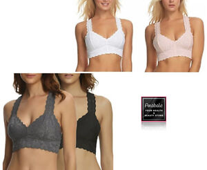 fd64469958291 Image is loading Felina-Women-039-s-Lace-Racerback-Bralette-Pack-