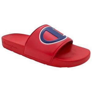 f79aac694af Men s Champion IPO Slide Sandals Red White Blue Sizes 7-13 New in ...