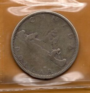 ICCS-FAIR-FR02-1965-1-Silver-Dollar-Voyageur-SUPER-LOWBALL-POCKET-RARE-Canada
