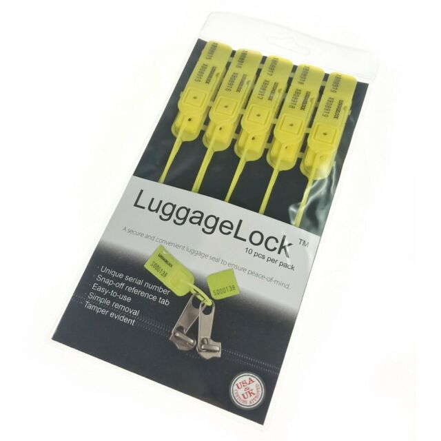 Yellow LuggageLock™ Tamper Evident Security Seal Luggage Travel Tag