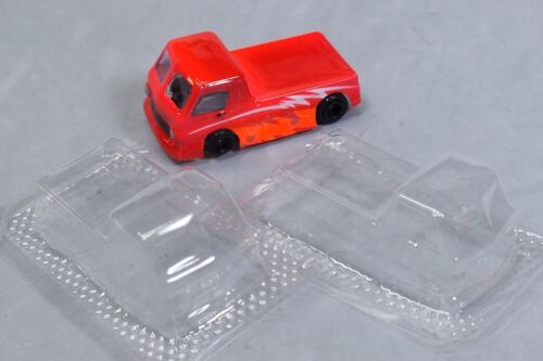 HO Slot Car Parts - HCS The Little Red Wagon .010 Lexan Body Lot of 2 w/ Masks