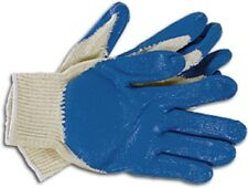 10 Pairs Premium String Knit Blue Latex Rubber Palm Coated Work Safety Glove