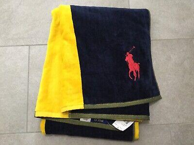 **neu** Ralph Lauren Badetuch / Strandtuch 90x166cm Mit Etikett,100% Baumwolle Klar Und Unverwechselbar