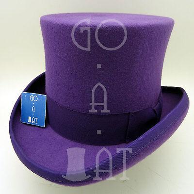 CLASSIC Wool Felt Kids Top Hat Child Topper Boys Tuxedo Party52cmYellow