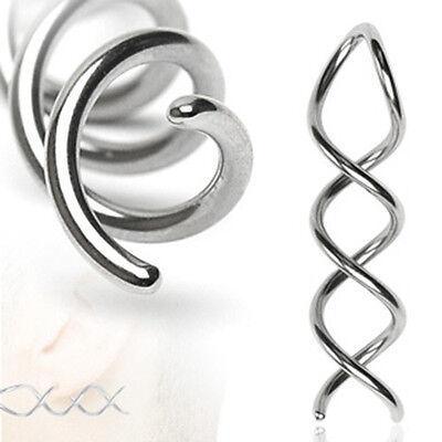Swirl Twist 316L Surgical Steel Taper