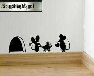 Mouse skirting board decal