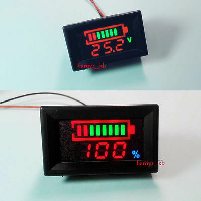 LED Indicator Battery capacity Tester voltmeter 12V 24v 36 48V Lead-acid Lithium