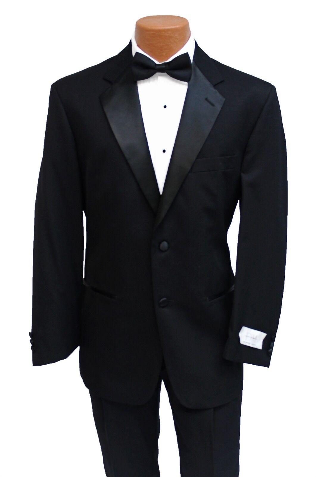39S New Classic Black Tuxedo Jacket & Pant Suit Prom Wedding Formal Gala Tux
