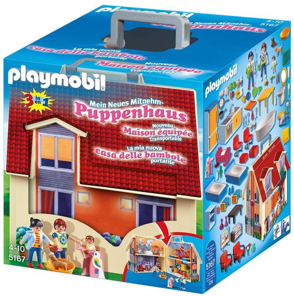 Playmobil 5167 - Mein Neues Mitnehm Puppenhaus Spielzeug für Mädchen ab 4 Jahren
