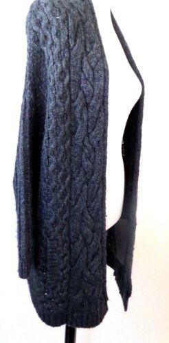 maille pour Taille de 7 en Cardigan femme S Mankind All Charcoal For mohair 6OwFqHY