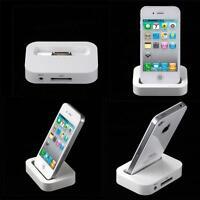 iPhone 4S 4 Charging Dock Docking Station Desktop Stand Cradle White UK
