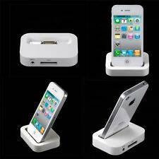 iPhone 4S 4 Charging Dock Docking Station Desktop Stand Cradle White UK