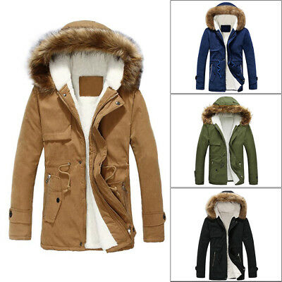 hombre abrigo Chaqueta Informal impermeable Capucha invierno 54ALSqc3Rj