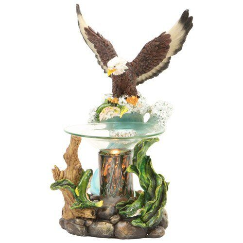 New American Eagle with Fish in Claw Fragrance Oil Burner Tart Warmer Dimmer