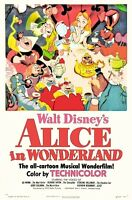 Alice In Wonderland poster - vintage style movie poster   :  11 x 17 inches  (a)