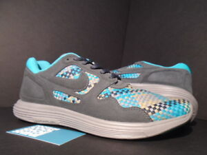 half off 8c202 c42a6 Image is loading Nike-Air-LUNAR-FLOW-WOVEN-QS-ANTHRACITE-GREY-
