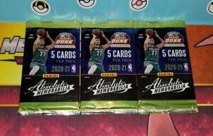 3x packs of 2020-21 panini absolute memorabilia basketball. 5 cards per pack. #2