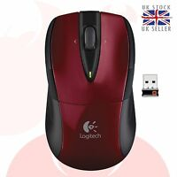 Logitech Wireless Mouse M525 red Unifying computer pc laptop mice UK free DEL