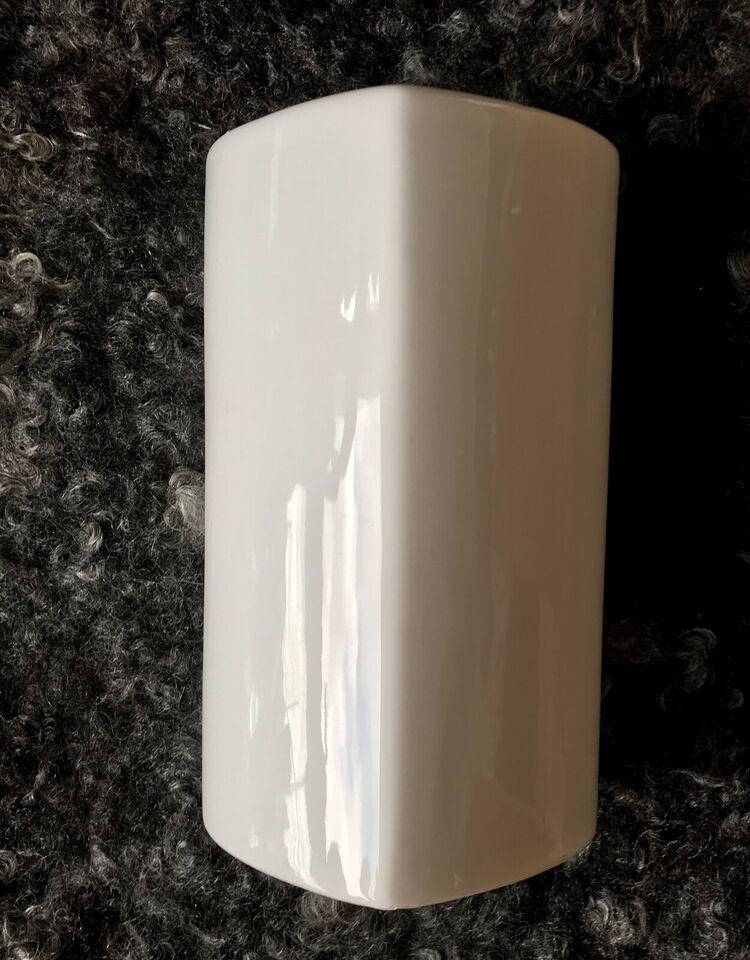 hvid hjerte vase