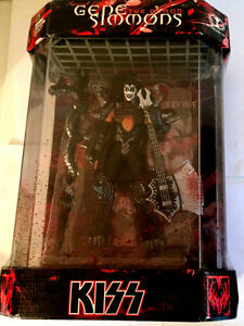 "KISS Gene Simmons The Demon 7"" Action Figure Display Case COA Numbered Piece"