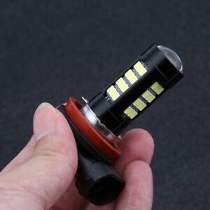 2x-H8-H11-LED-Faro-Del-Coche-De-Bombillas-Lampara-6500K-Super-Blanco-DC-12V-ES